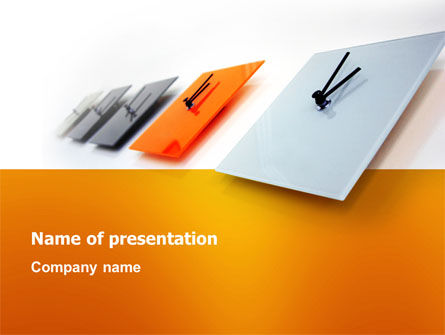 Business Concepts: Tikkende Klok PowerPoint Template #03238