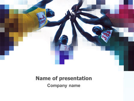 Victory In Marathon PowerPoint Template