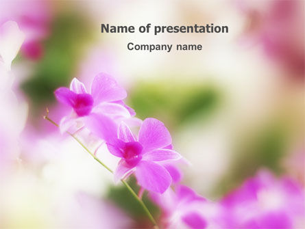 Nature & Environment: Blooming Flowers PowerPoint Template #03242