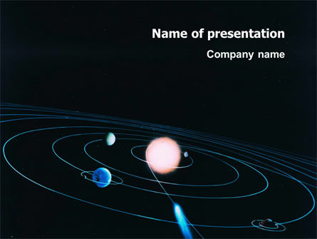 solar system powerpoint template backgrounds 03243