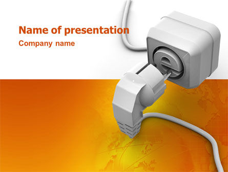 Technology and Science: Internet Point PowerPoint Template #03244
