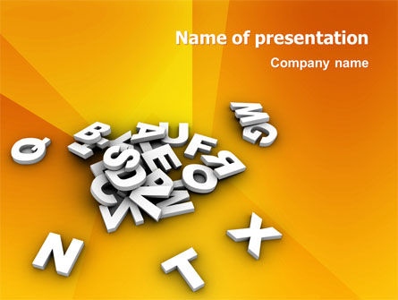 Letters PowerPoint Template, 03245, Abstract/Textures — PoweredTemplate.com