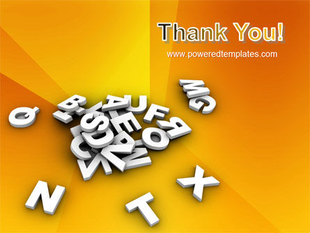 Letters PowerPoint Template Slide 20