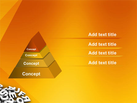 Letters PowerPoint Template, Slide 4, 03245, Abstract/Textures — PoweredTemplate.com