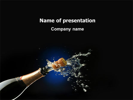 Holiday/Special Occasion: Champagne PowerPoint Template #03246