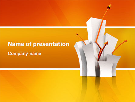 Rising Rates PowerPoint Template, 03248, Consulting — PoweredTemplate.com