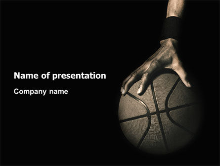 Sports: Basketball Player PowerPoint Template #03249