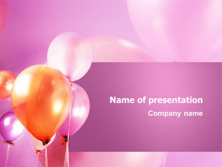 Holiday/Special Occasion: Balloons PowerPoint Template #03250