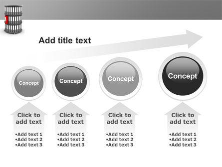 Paper Case Shelf PowerPoint Template Slide 13