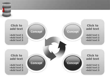 Paper Case Shelf PowerPoint Template Slide 9