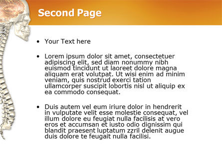 Spinal Cord PowerPoint Template, Slide 2, 03254, Medical — PoweredTemplate.com