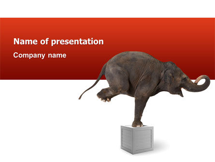 Elephant PowerPoint Template, 03255, Art & Entertainment — PoweredTemplate.com
