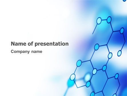 Molecular Bonds PowerPoint Template, 03256, Abstract/Textures — PoweredTemplate.com