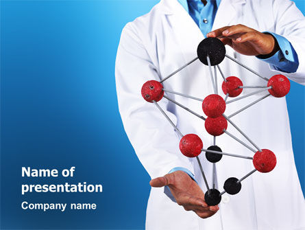 Technology and Science: Molecule Model Of Hydrocarbon PowerPoint Template #03257
