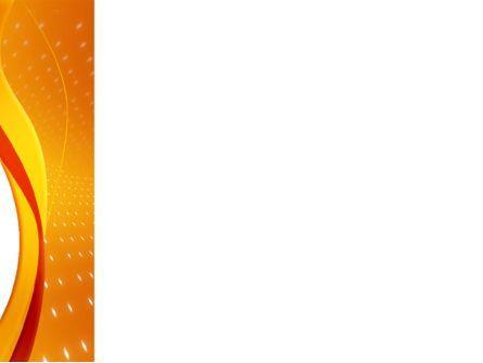 Orange Wave Surface PowerPoint Template, Slide 3, 03258, Abstract/Textures — PoweredTemplate.com