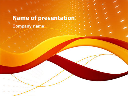 Orange Wave Surface PowerPoint Template