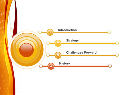 Orange Wave Surface PowerPoint Template Slide 3