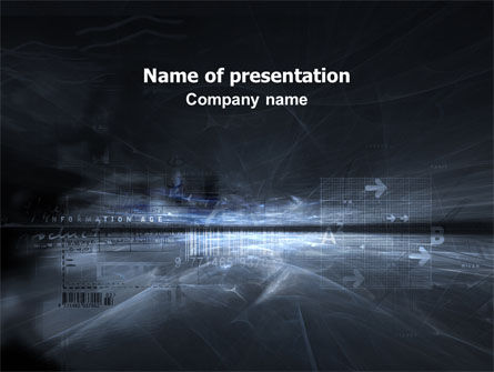 Abstract/Textures: Cyberspace PowerPoint Template #03260