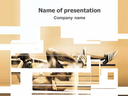 Working Hard PowerPoint Template, 03261, Sports — PoweredTemplate.com