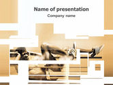 Sports: Working Hard PowerPoint Template #03261