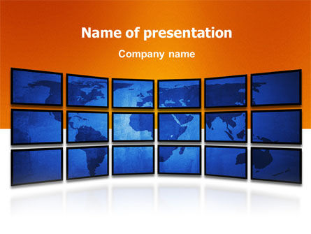 World News PowerPoint Template, 03262, Global — PoweredTemplate.com