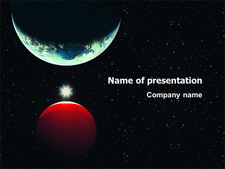 Education & Training: Red Planet PowerPoint Template #03263