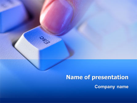 Escape Key PowerPoint Template, 03269, Technology and Science — PoweredTemplate.com