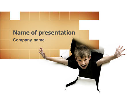 Business Concepts: Children's Surprise PowerPoint Template #03270