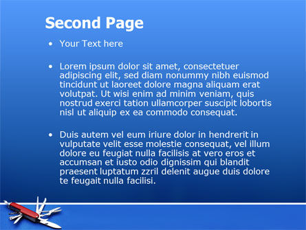 Pocket Knife PowerPoint Template, Slide 2, 03272, Utilities/Industrial — PoweredTemplate.com