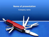 Utilities/Industrial: Pocket Knife PowerPoint Template #03272