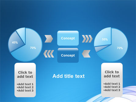Blue Veil PowerPoint Template Slide 11