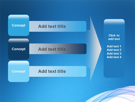 Blue Veil PowerPoint Template Slide 12