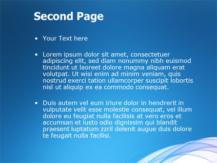 Blue Veil PowerPoint Template Slide 2