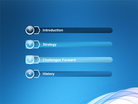 Blue Veil PowerPoint Template Slide 3