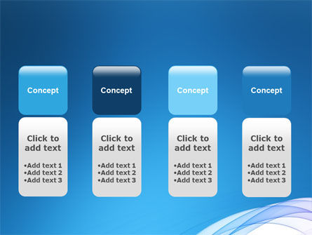 Blue Veil PowerPoint Template Slide 5