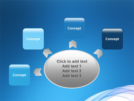 Blue Veil PowerPoint Template Slide 7