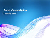 Abstract/Textures: Blue Veil PowerPoint Template #03276