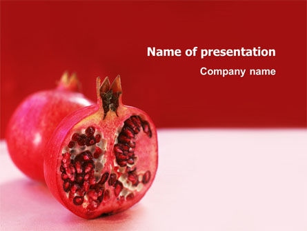 Garnet PowerPoint Template, 03277, Food & Beverage — PoweredTemplate.com