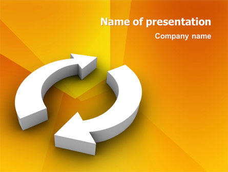 Refresh PowerPoint Template, 03278, 3D — PoweredTemplate.com