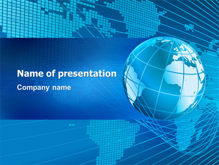 Worldwide PowerPoint Template, 03279, Global — PoweredTemplate.com