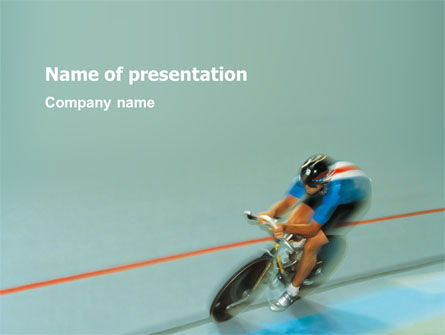 Sports: Racing On A Cycle PowerPoint Template #03280