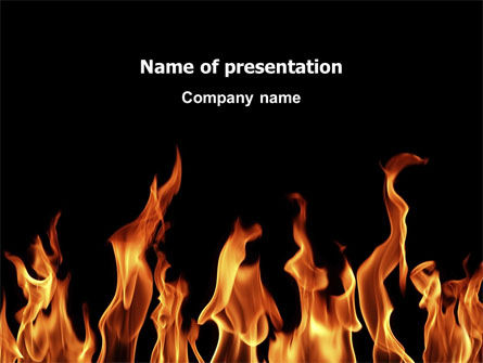 Abstract/Textures: Fire PowerPoint Template #03282
