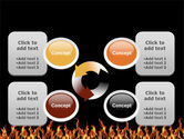 Fire PowerPoint Template#9