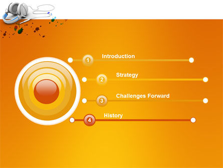 Earphones PowerPoint Template Slide 3