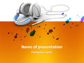Technology and Science: Earphones PowerPoint Template #03283