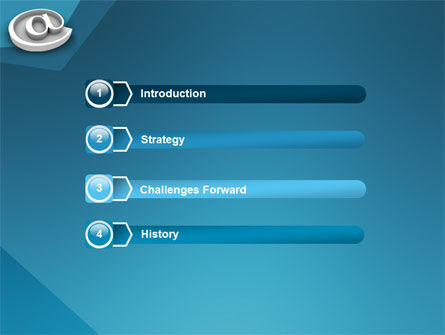 At Sign PowerPoint Template, Slide 3, 03284, 3D — PoweredTemplate.com