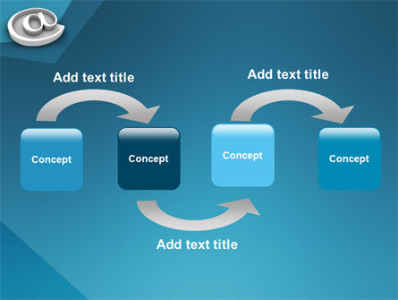 At Sign PowerPoint Template, Slide 4, 03284, 3D — PoweredTemplate.com