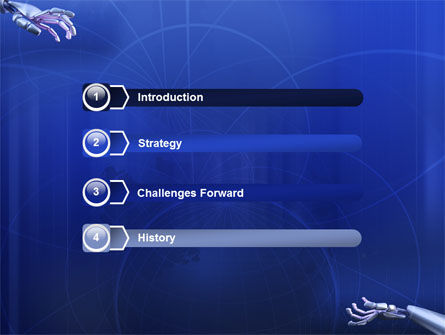 Cyborgs PowerPoint Template, Slide 3, 03287, Technology and Science — PoweredTemplate.com