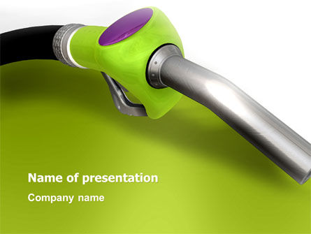 Biofuel PowerPoint Template, 03288, Nature & Environment — PoweredTemplate.com