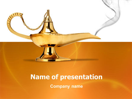 Abstract/Textures: Genie Lamp PowerPoint Template #03289